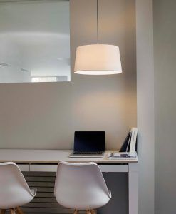 Lámpara de techo FUSTA blanca ambiente