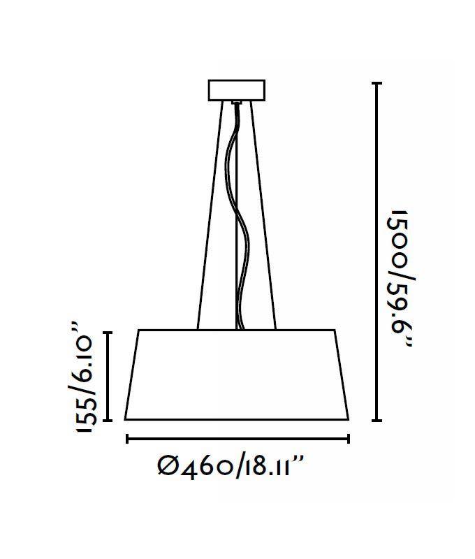 Lámpara de techo LED AINA blanca medidas