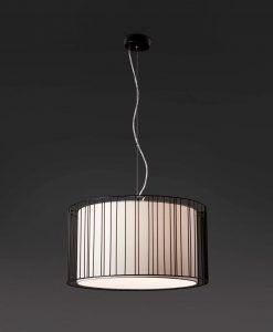 Lámpara de techo negra LINDA detalle