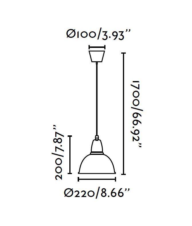 Lámpara de techo pequeña ALUMINIO medidas