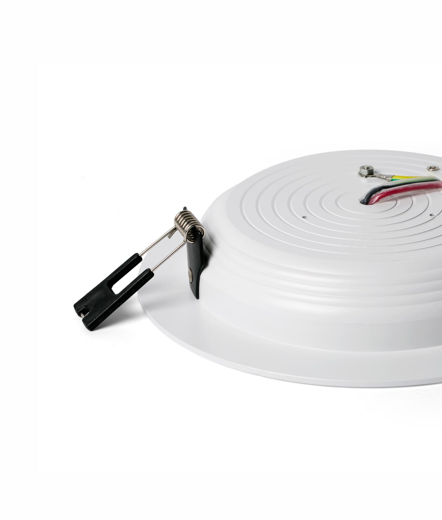 Lámpara empotrable LED TED blanca detalle