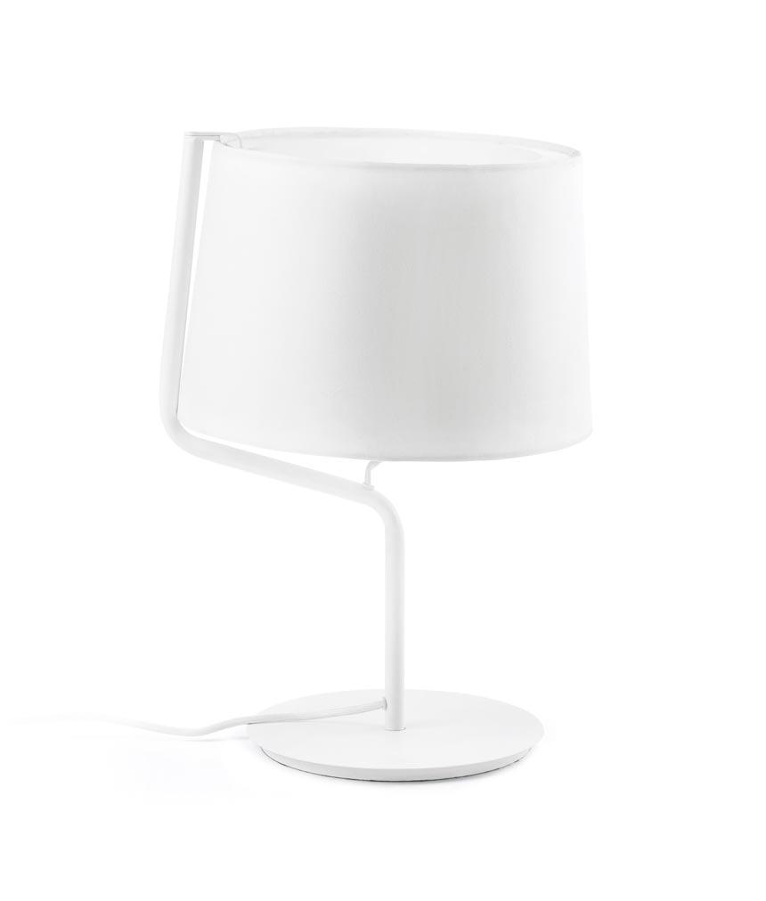 Lámpara sobremesa blanca BERNI