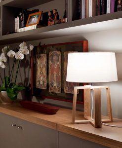 Lámpara sobremesa BLISS blanco ambiente