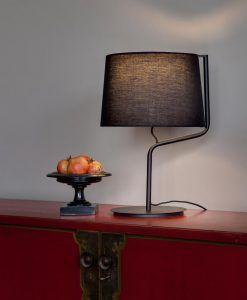 Lámpara sobremesa negra BERNI ambiente 2