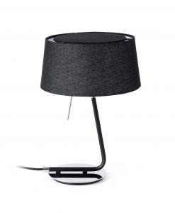 Lámpara sobremesa negra HOTEL