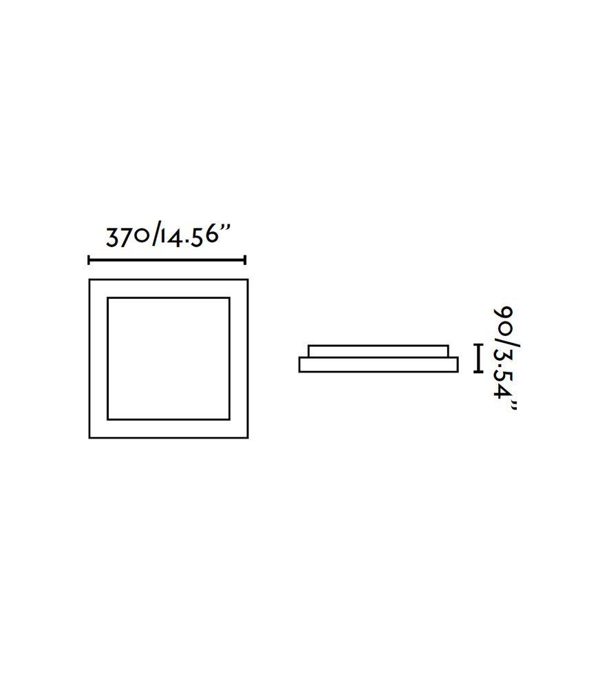 Plafón 3 luces TOLA gris medidas