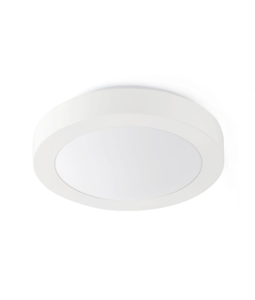 Plafón blanco 1 luz LOGOS