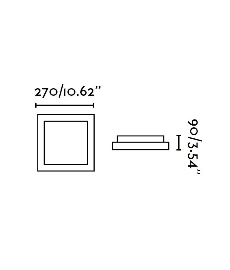 Plafón blanco 1 luz TOLA medidas