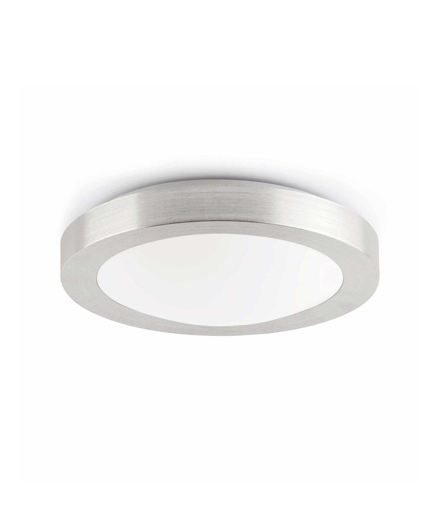 Plafón gris 1 luz LOGOS