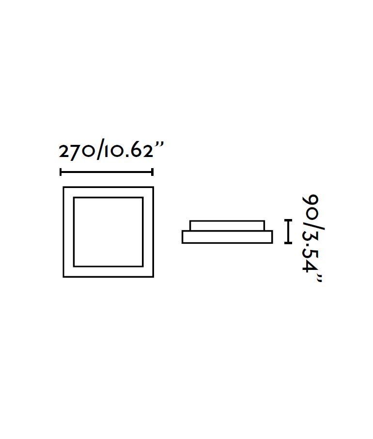 Plafón gris 1 luz TOLA medidas