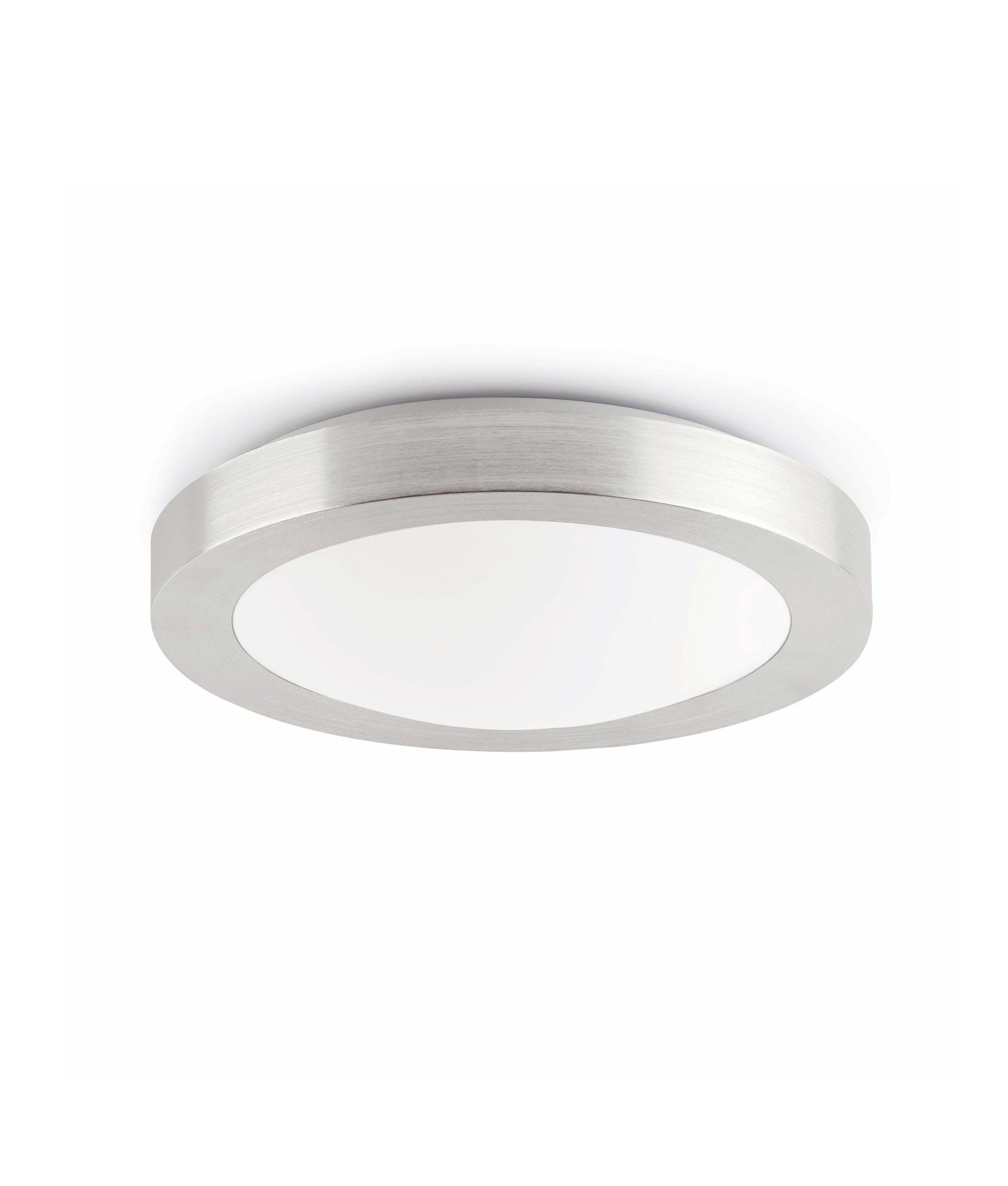 Plafón gris 2 luces LOGOS