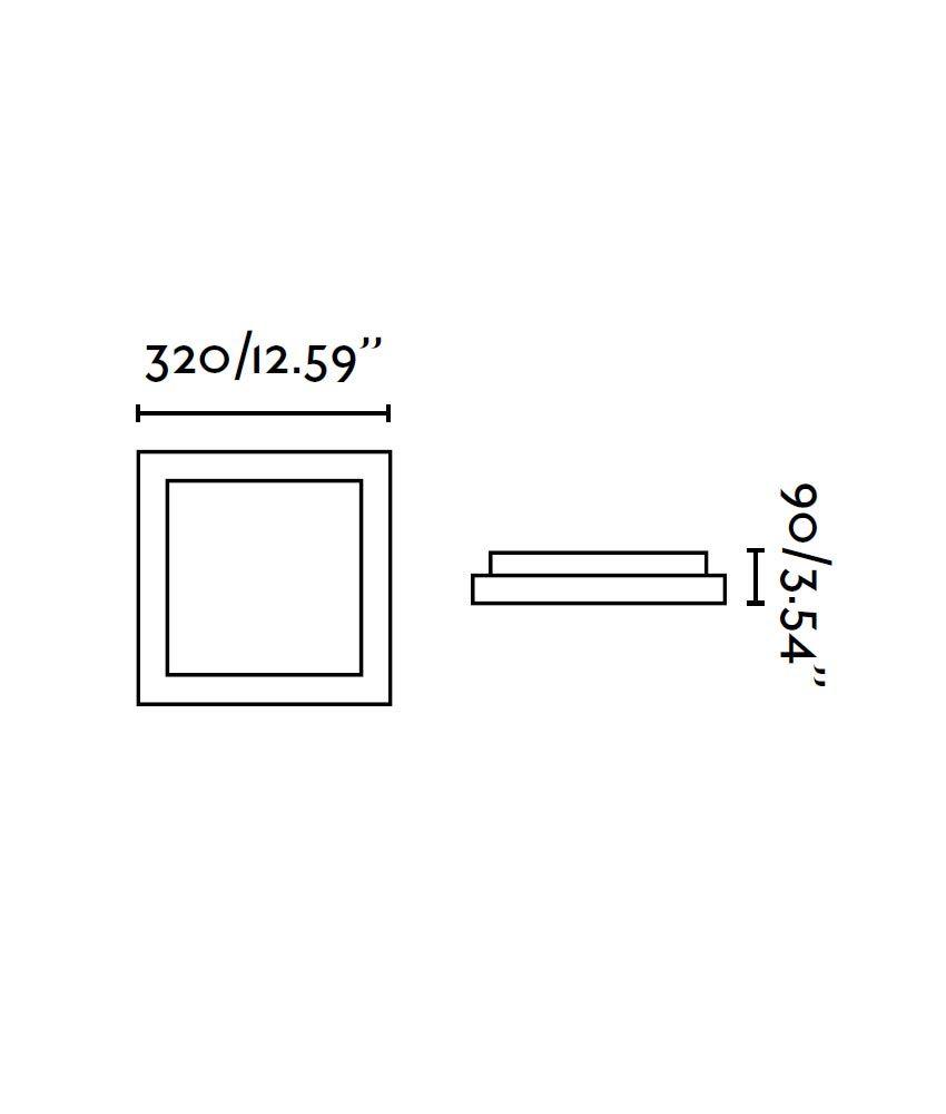 Plafón gris 2 luces TOLA medidas