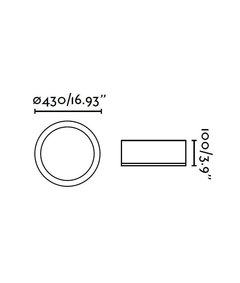 Plafón LED KAO aluminio medidas