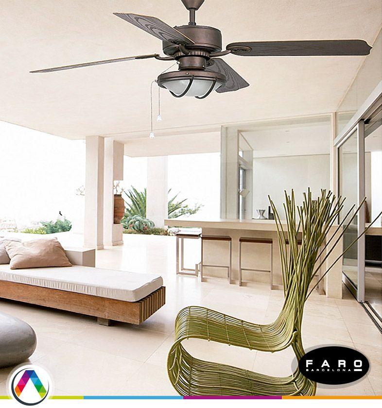 Ventiladores de techo para exterior IP - La Casa de la Lámpara