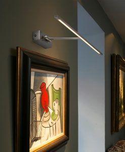 Lámpara iluminacuadros LED MONET níquel mate ambiente