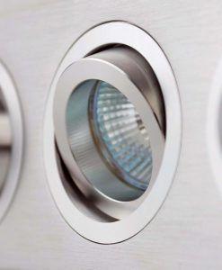Lámparas empotrables 3 luces PLANO gris detalle
