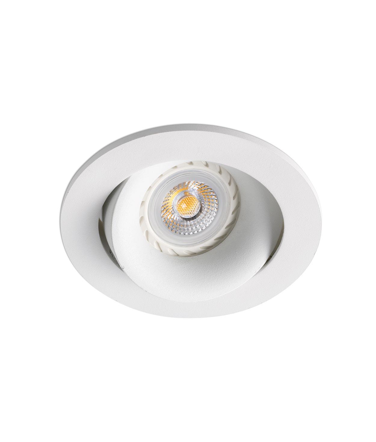 Empotrable redondo blanco ARGÓN detalle