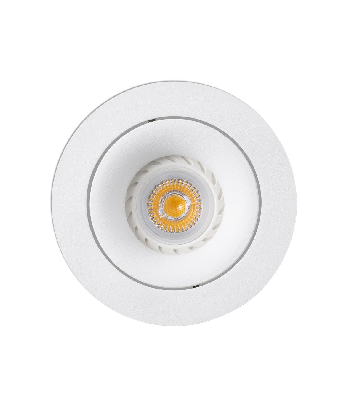 Lámpara empotrable redondo blanco ARGÓN