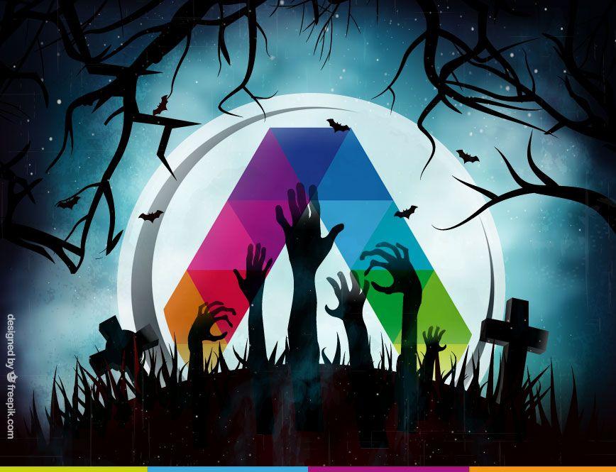 Iluminación en Halloween de La Casa de la Lámpara