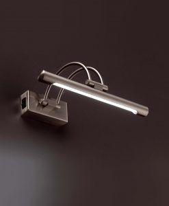 Iluminacuadros LED HENLEIN níquel mate detalle