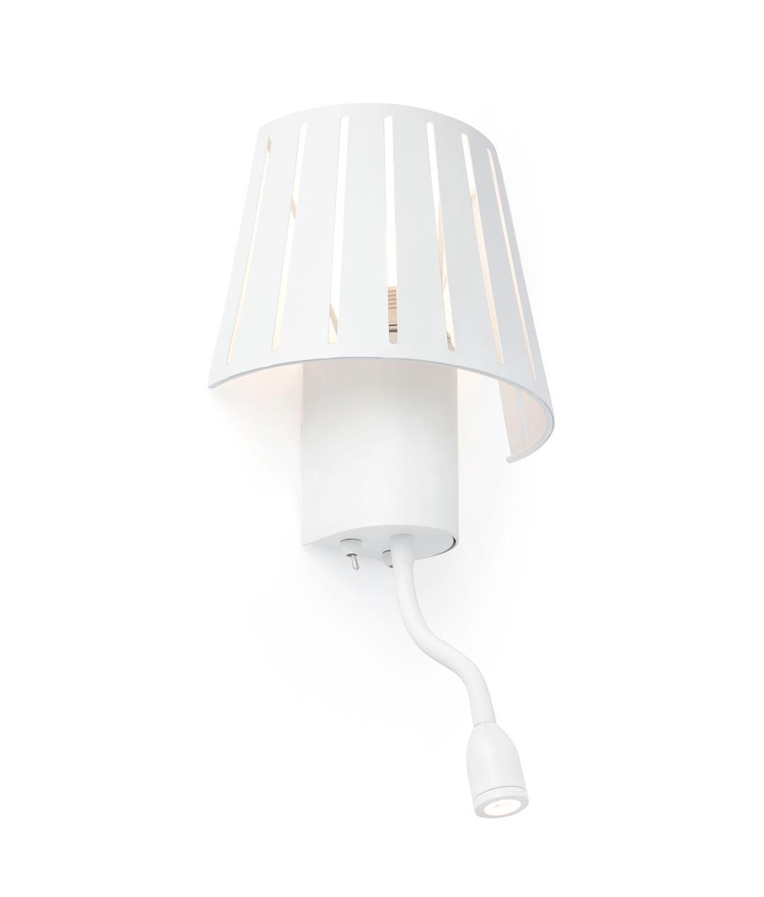 Aplique blanco con lector led mix la casa de la l mpara - Casas de lamparas ...