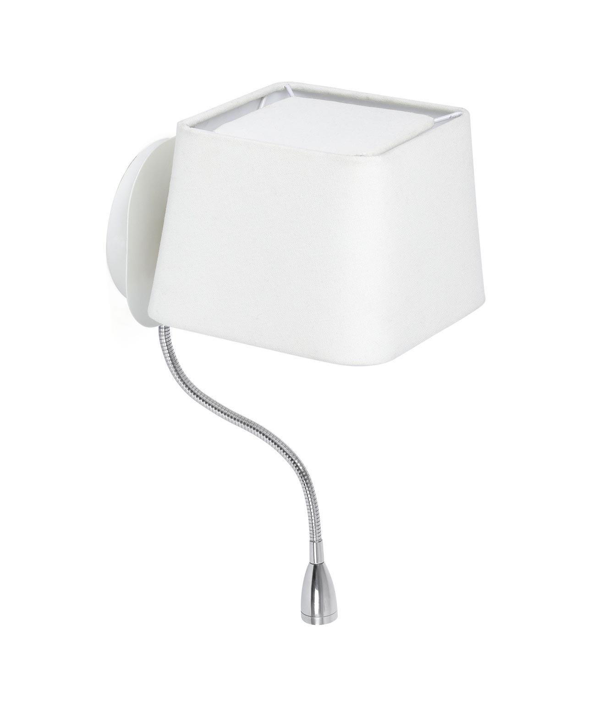 Aplique con lector LED blanco SWEET detalle