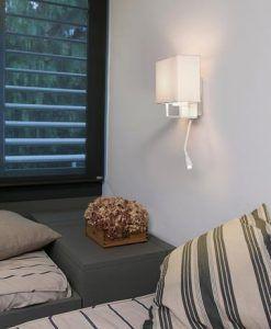 Aplique con lector LED blanco VESPER ambiente