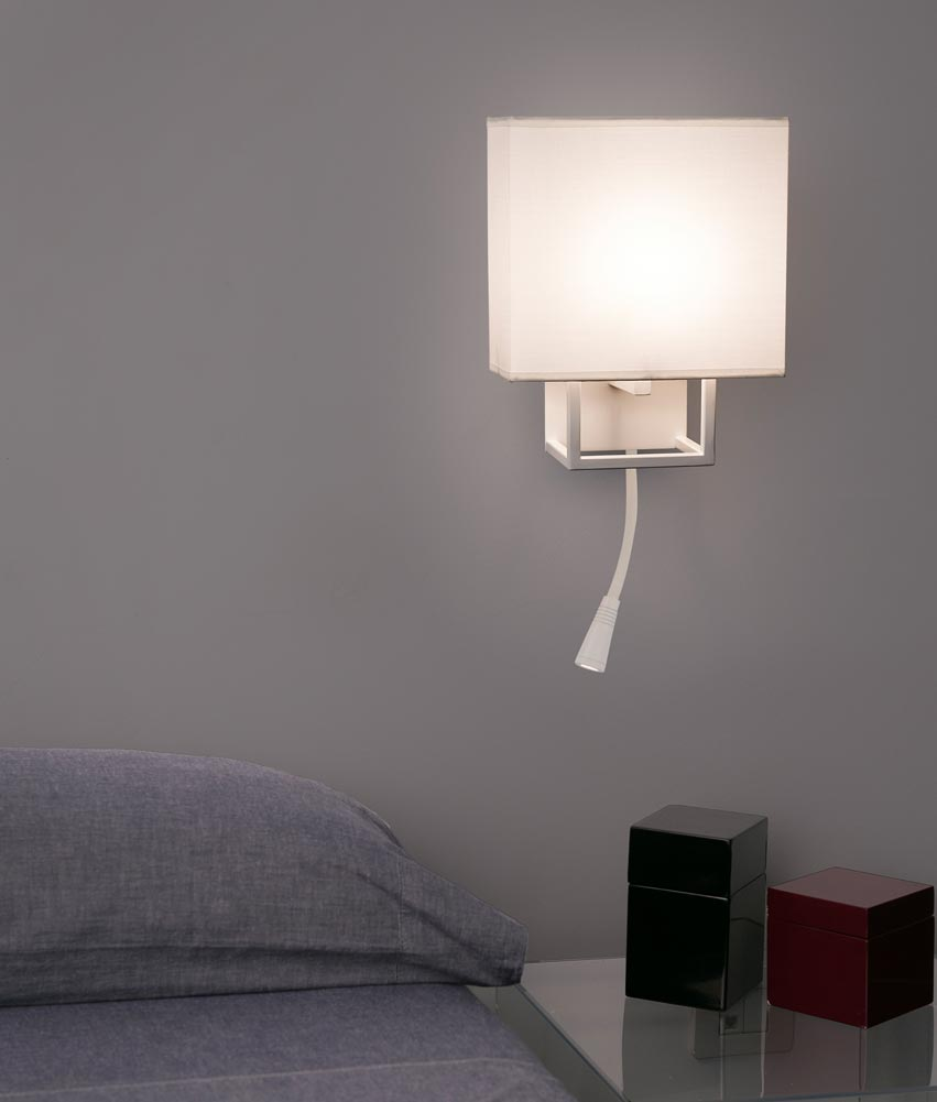 Aplique con lector LED blanco VESPER ambiente 2