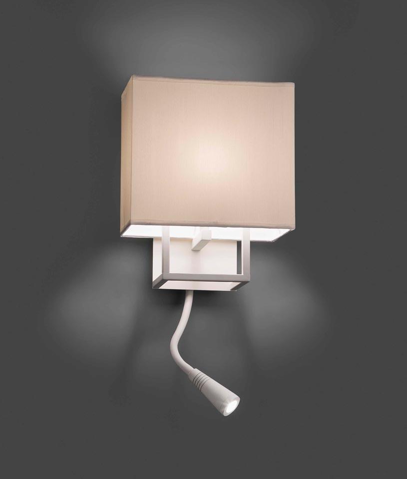 Aplique con lector LED blanco VESPER detalle