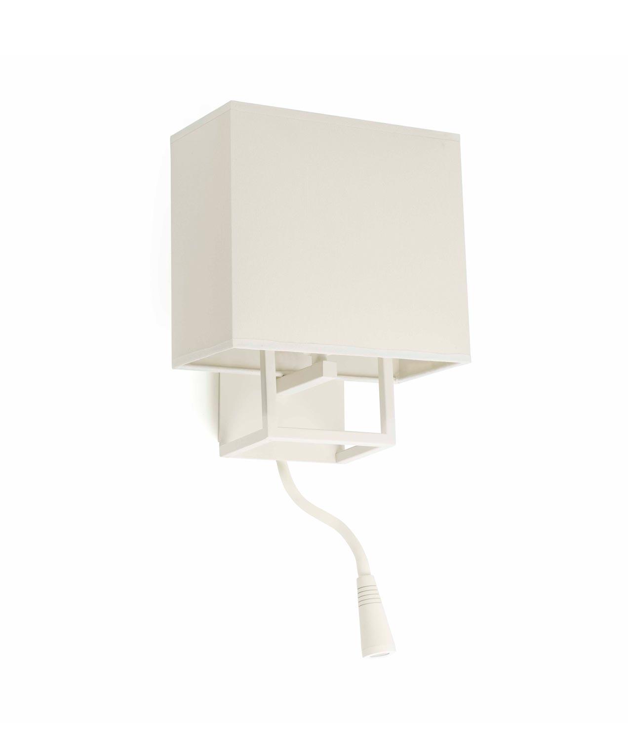 Aplique con lector LED blanco VESPER