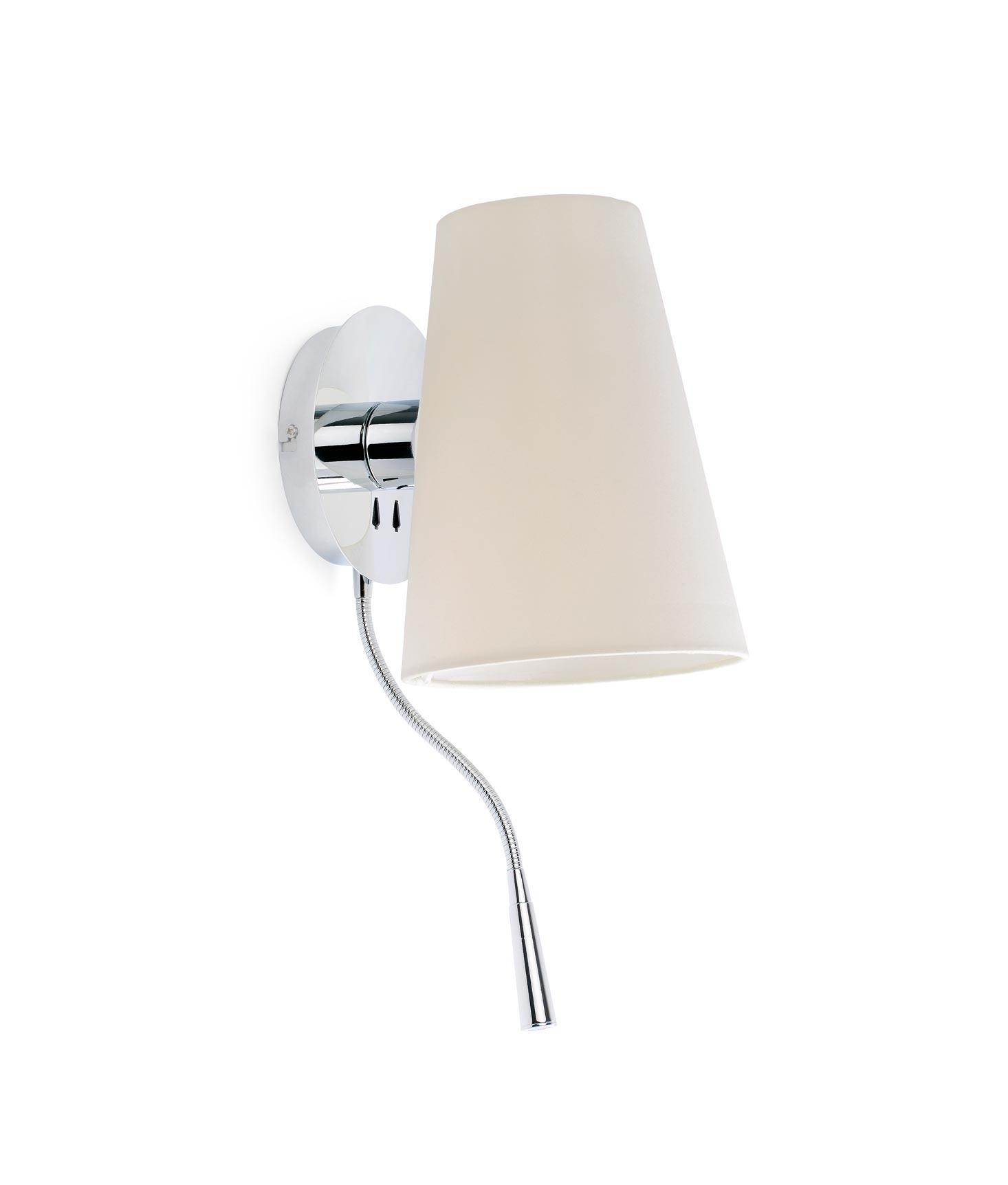 Aplique con lector LED LUPE cromo