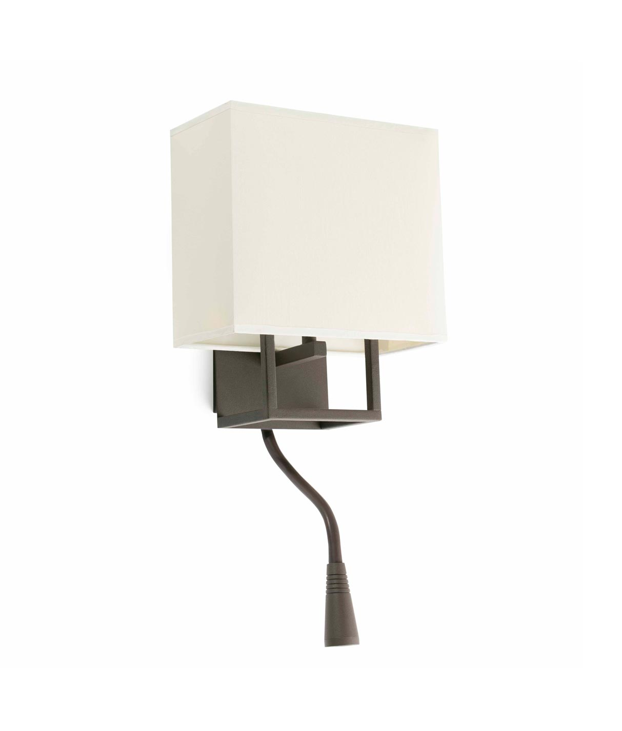 Aplique con lector LED marrón y beige VESPER