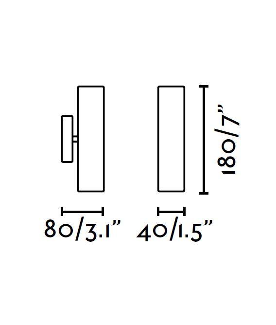 Aplique de pared LED blanco LISE medidas
