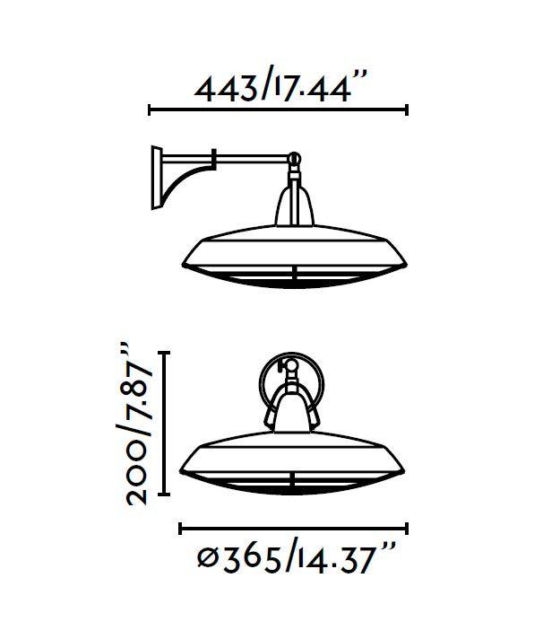 Aplique de pared LED blanco roto PLEC medidas