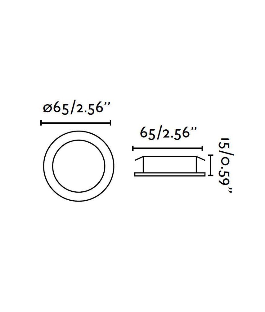 Foco empotrable de LED cromo MINI medidas