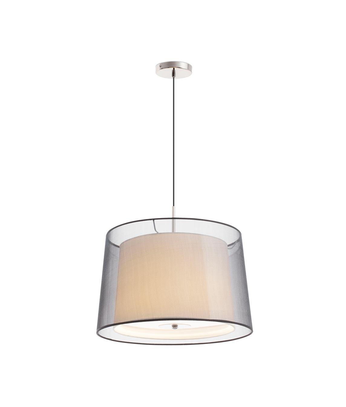 Lámpara colgante 3 luces SABA níquel mate