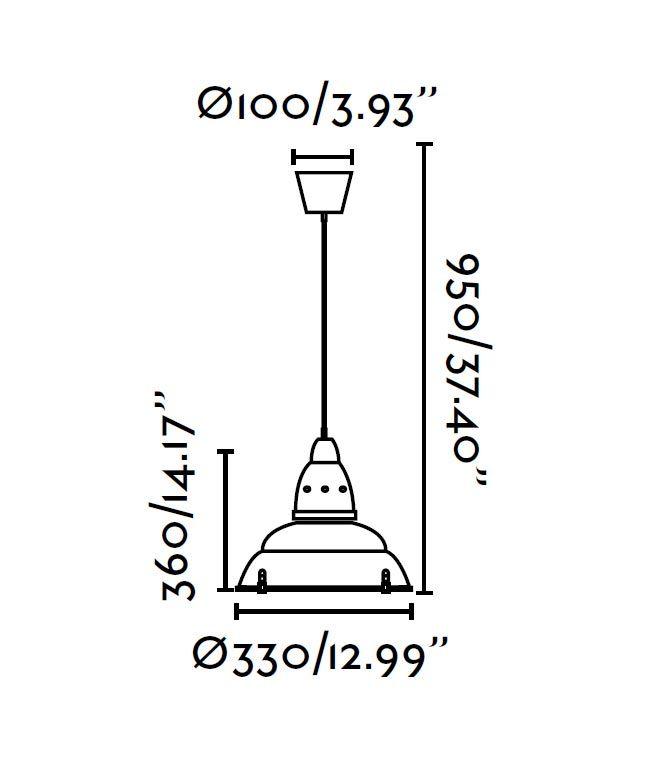 Lámpara colgante aluminio SIRIA medidas
