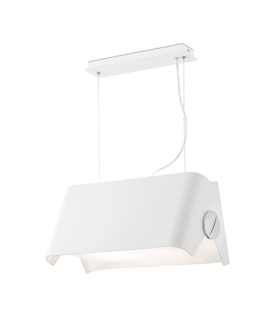 Lámpara colgante blanca pequeña PAPILLON