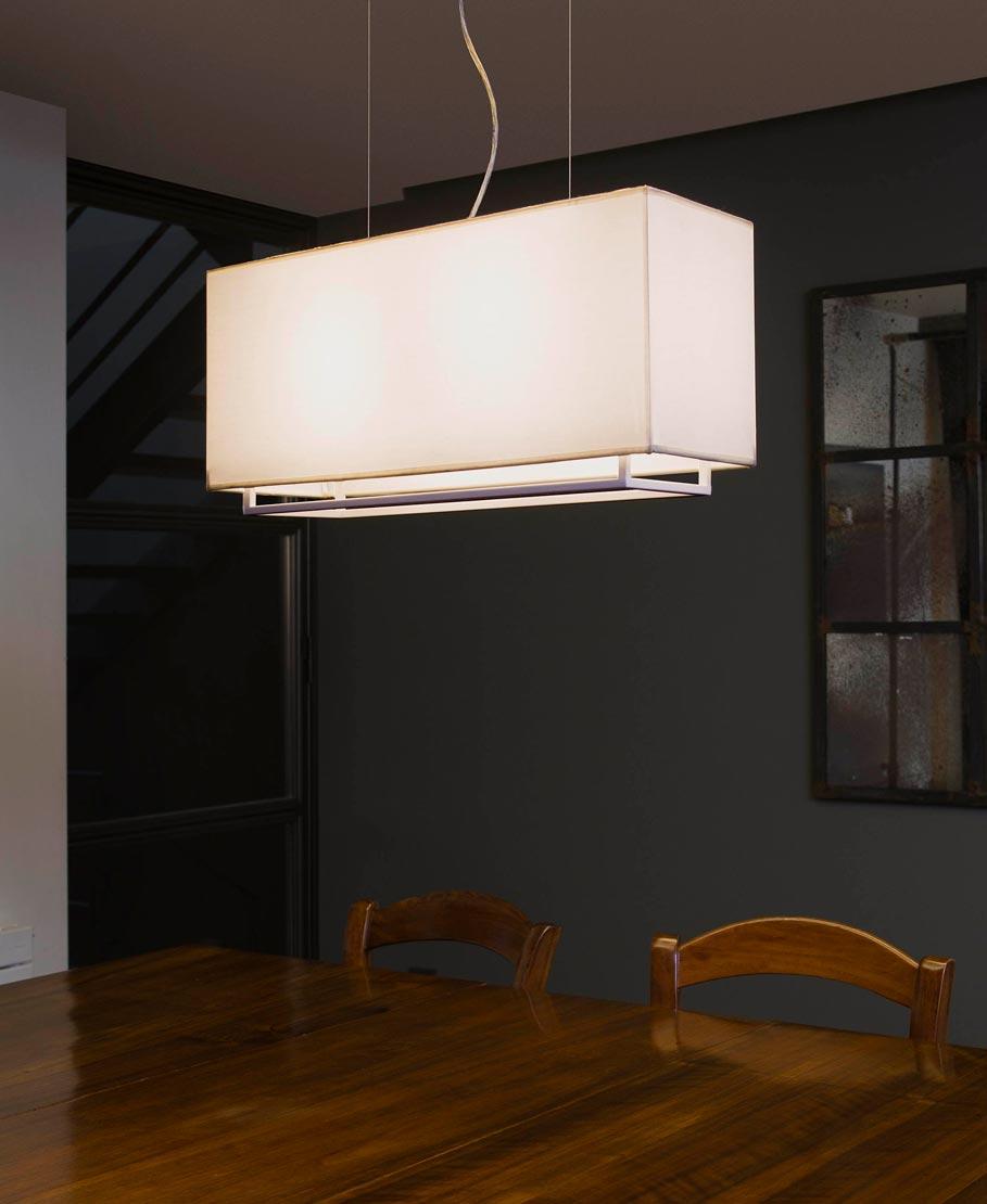 Lámpara colgante blanca VESPER ambiente 2