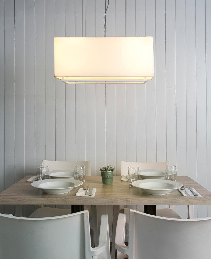 Lámpara colgante blanca VESPER ambiente