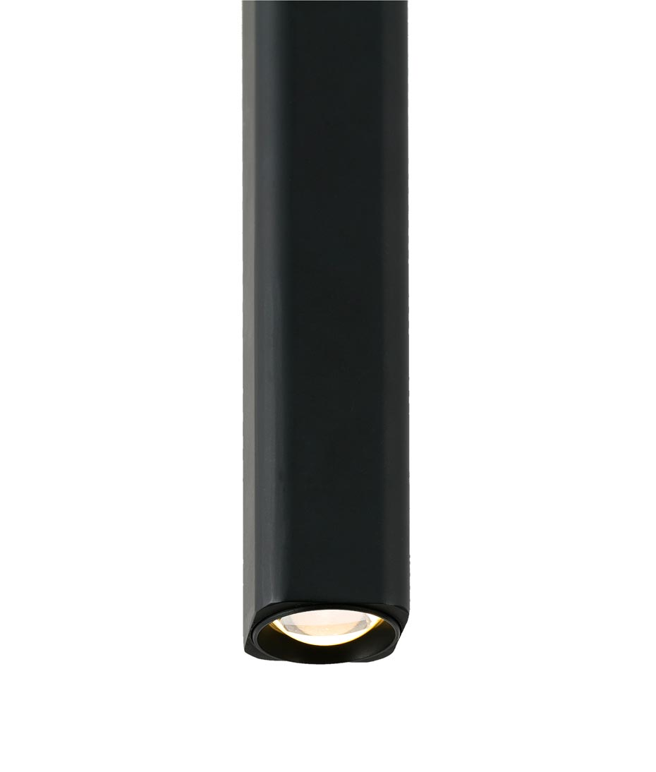 Lámpara colgante LED negra LISE detalle