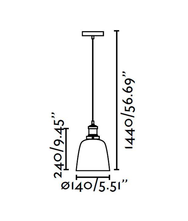 Lámpara colgante LIZ transparente medidas