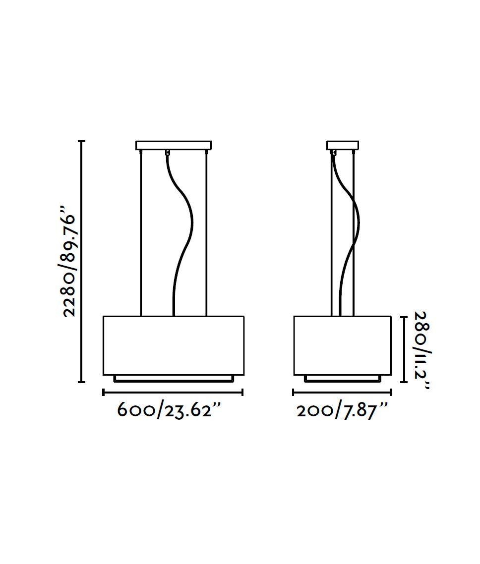 Lámpara colgante marrón VESPER medidas