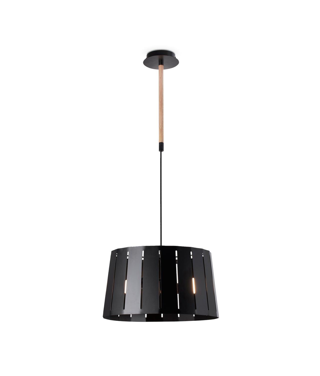 Lámpara colgante negra grande MIX