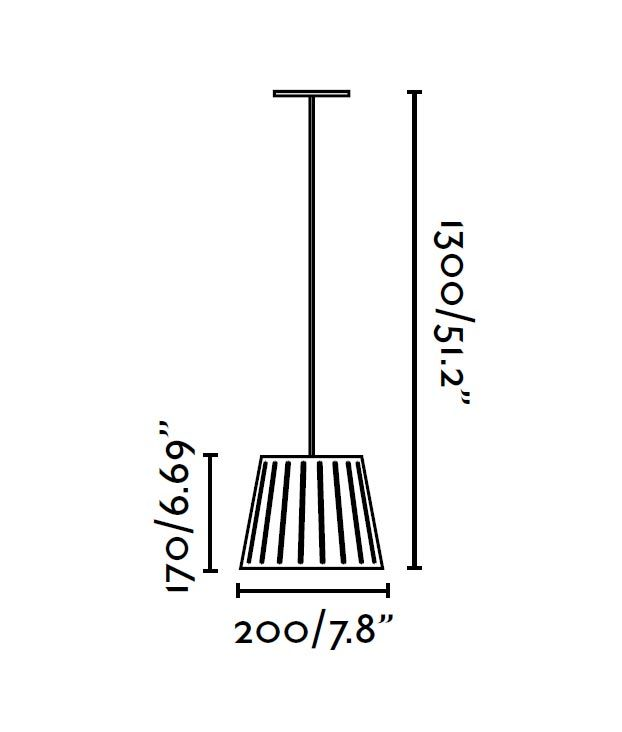 Lámpara colgante negra pequeña MIX medidas