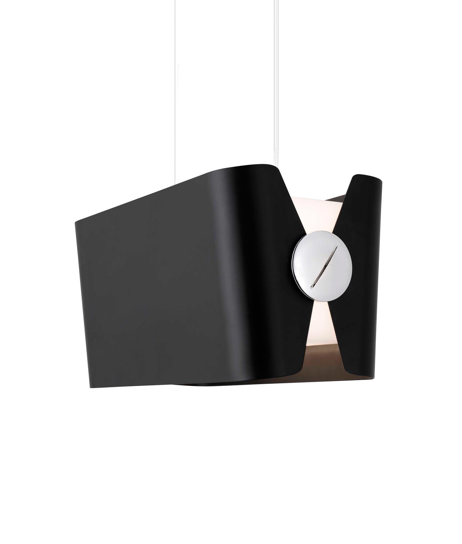 Lámpara colgante negra pequeña PAPILLON detalle