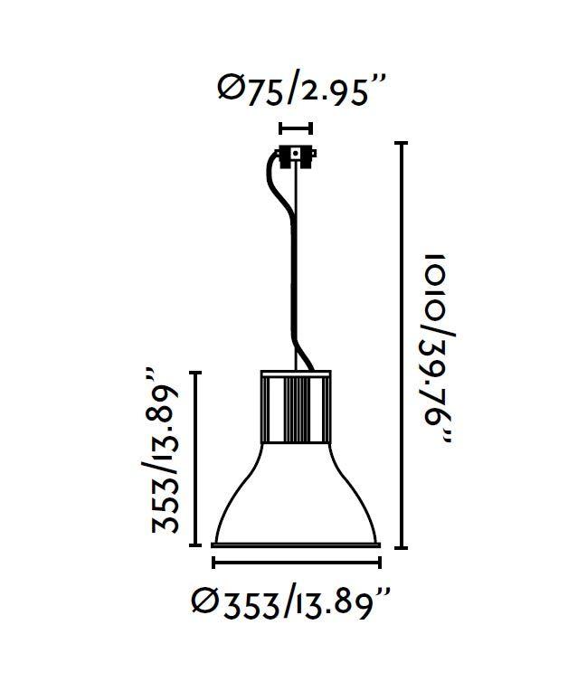 Lámpara colgante TRANSFER gris medidas