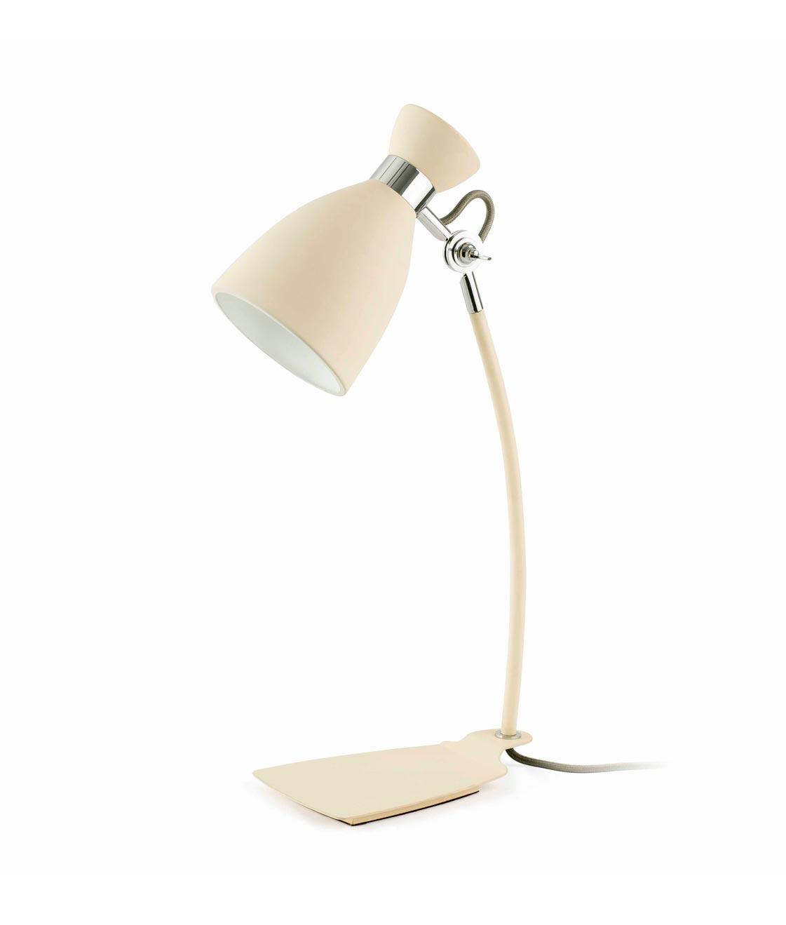 Lámpara de mesa beige RETRO