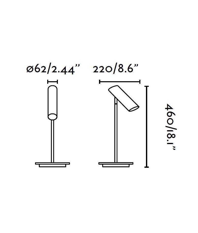 Lámpara de mesa blanca LINK medidas