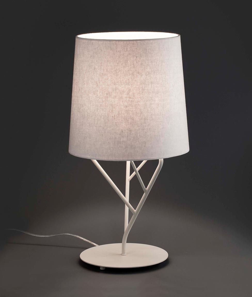 Lámpara de mesa blanca TREE detalle 2